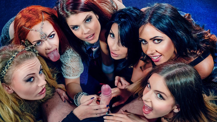 Carmel Anderson, Ella Hughes, Lucia Love, Rina Ellis, Roxy Lea, Stella Cox – Six Hungry Mouths Suck on a Stallion (Private.com/2019/HD1080p)