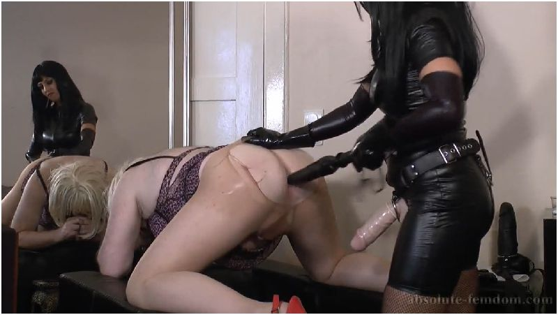 Huge Strap-On Under Leather Preview
