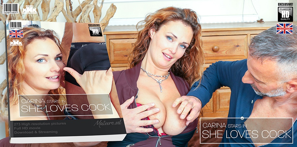 Carina (EU) (36) – Hairy red MILF Carina has a very special love for hard cocks (Mature.nl)