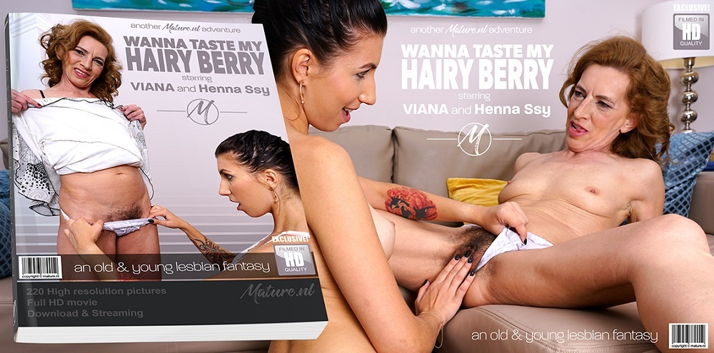 Henna Ssy (22), Viana (58) – Hairy mature Viana seduces her stepadaughter for some steamy lesbian get together (Mature.nl 2019 SD)