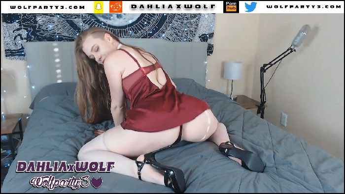 dahliaxwolf red dress oiled butt plug anal play 2019 11 10 Ia6RUA Preview
