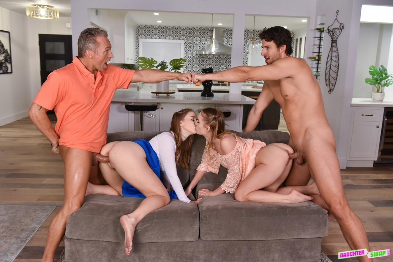 Laney Grey, Natalie Knight – Daughter Pussy Swapping Party 2019 DaughterSwap Standart quality