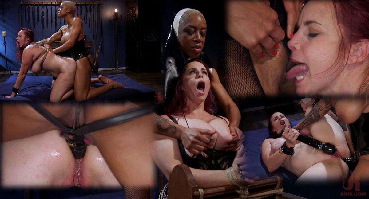Ashley Paige, Bella Rossi – Lesbian Latex Blasphemy Ashley Paige Whips the Sin Out Of Bella Rossi 720p