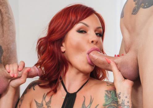 Anya Gold – Double Vaginal With Tattooed Redhead Anya Gold (Spizoo 2019 HD1080p)