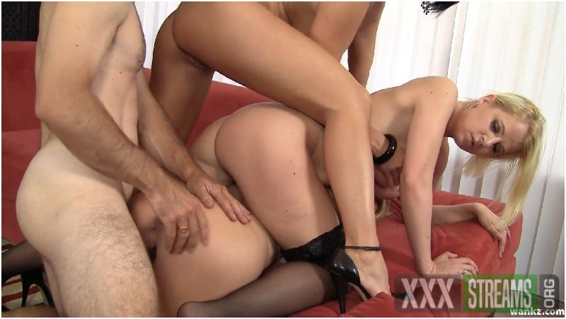 Wild Pussy Foursome For Steven On The Red Couch Preview