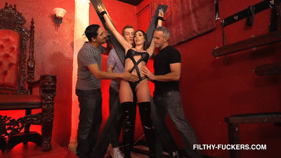 Lexxi Steele Gets Penetrated And Dominated By Three Big Cocks In This Filthy Foursome 4K