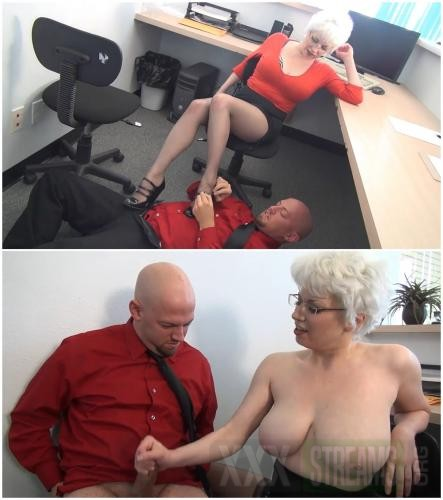 104455956 0702 dominant blonde woman in the office cover