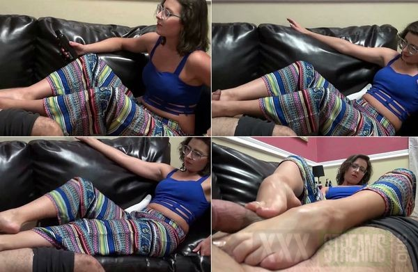Footjob first First time
