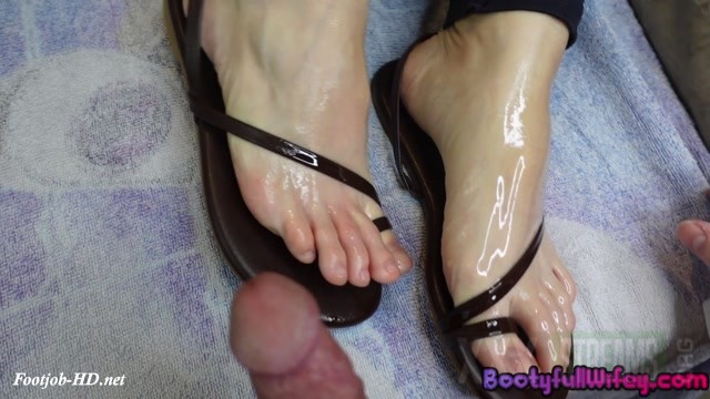 Oiled Sandals Shoejob BootyfullWifey.mp4.00002