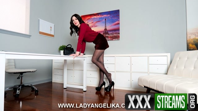 Lady Angelika Give in to your Leggy Brunette Coworkers Whims Day Two.mp4.00013