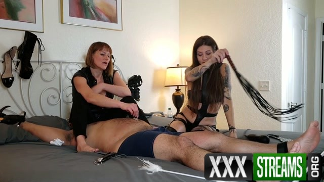 Lingerie Kink Therapy Morgana and Jenni s foot slave.mp4.00014