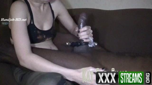 Trying out Vibrating Cock rings HandJob Seductive Kat 00009