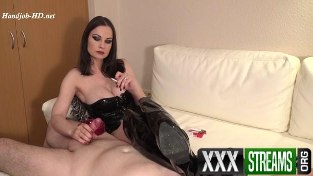 Erotic Smoking Handjob and Teasing Abbie Cat 00006