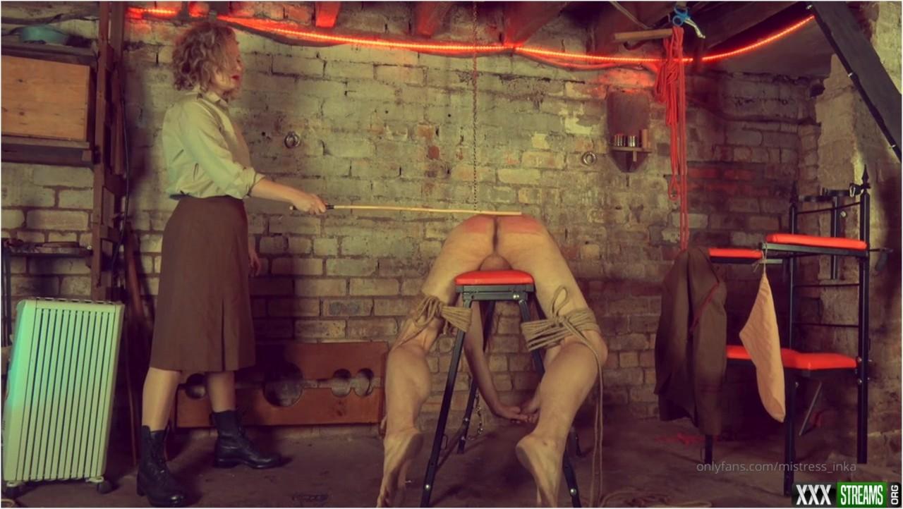 Mistress Inka – A thrashing for the Prisinor – Femdom spanking