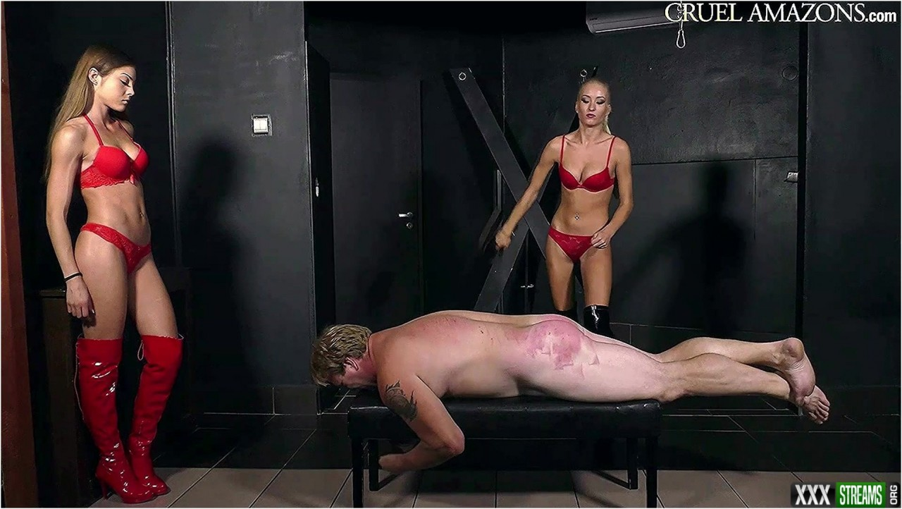 Cruel Amazons – Brutally Spanked By Two – Femdom spanking