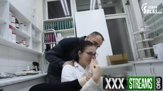 Czech Soles Stalker worships big bare feet of one cute pharmacist 00013