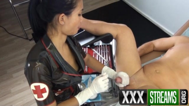Hand Job with a metal sound in the cock ASIAN MISTRESS NINA 00011