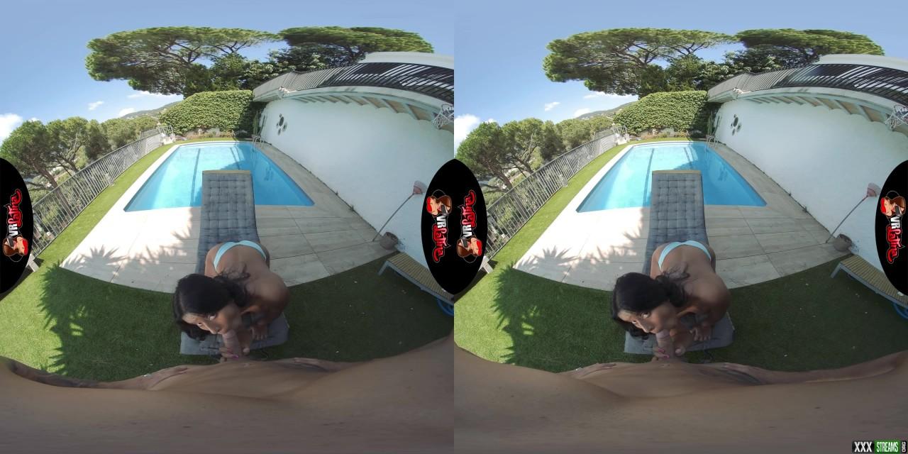 VRLatina – Poolside Passion – Amy Amor (Oculus Go 4K)