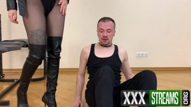 Petite Princess FemDom Nylon Ass Worship With Hot Princess Kira In Black Tights 00013