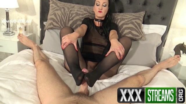 Made To Cum By My Nyloned Feet – Fetish Liza – FootJob